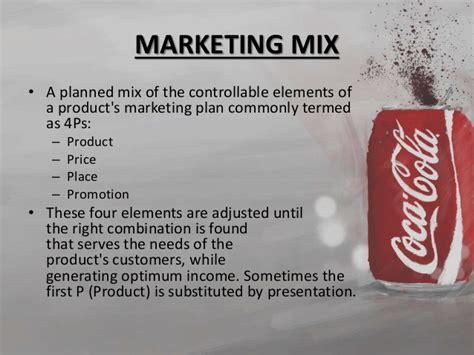 Produk Colla marketing mix coca cola
