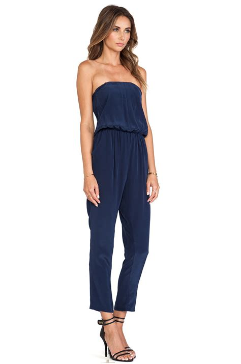 Jumpsuit Helena helena quinn strapless jumpsuit in blue lyst