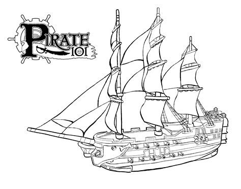 free coloring pages of bucky the pirate ship