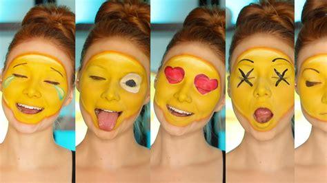 paint emoji diy emoji costume makeup tutorial cc youtube