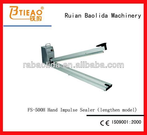 Fs 500h Powerpack Plastic Sealer Sealer fs 500h impulse sealer lengthen model buy