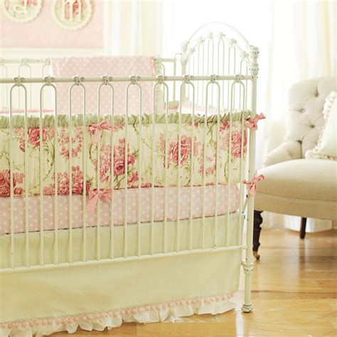 rose crib bedding roses for bella crib bedding set by new arrivals inc