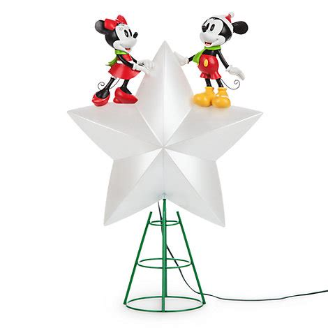 mickey and minnie christmas tree topper mickey and minnie mouse light up tree topper