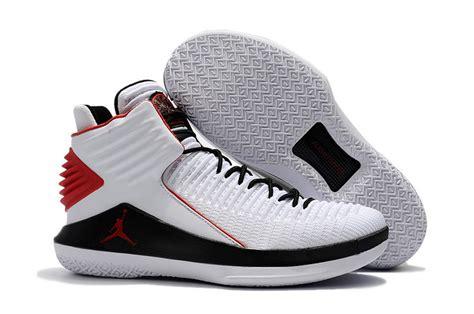 air basketball shoes for sale 2017 cheap air 32 white black varsity