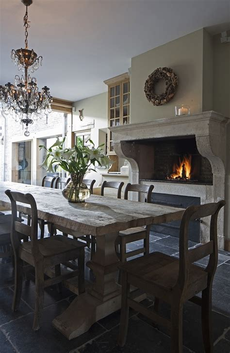 dining room fireplace pizza oven traditional dining