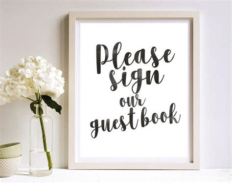 Please Sign Our Guest Book Printable 8x10 Sign Guest Book Sign Our Guest Book Template