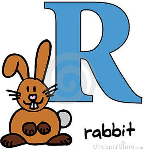 4 Letter Words Rabbit animal alphabet r rabbit stock photography image 7600072