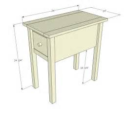 white narrow cottage end tables diy projects