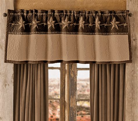 western style curtains star ranch valance