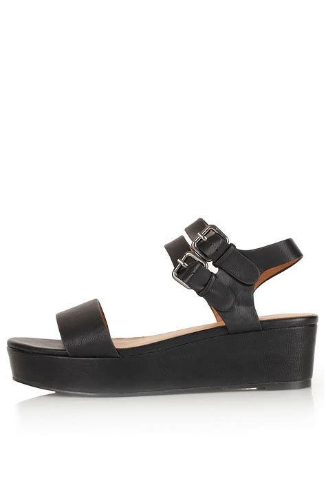 topshop flatform sandals in black lyst