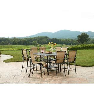 agio international panorama outdoor 9 piece high dining