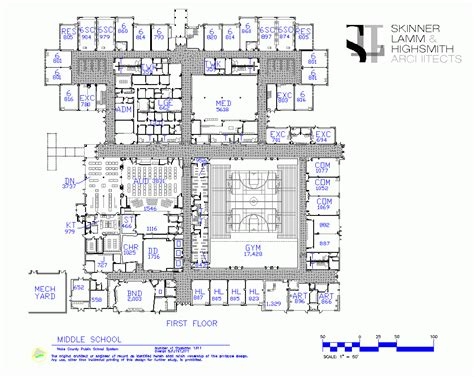 middle school floor plans holly grove middle school