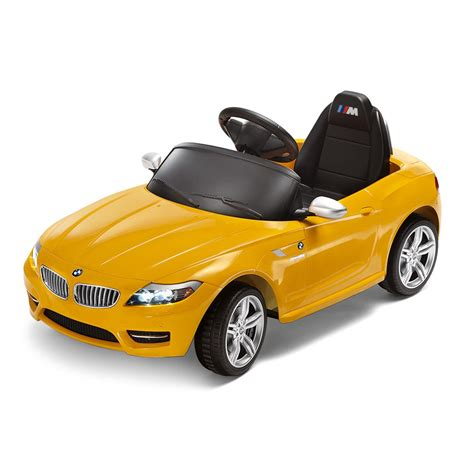bmw electric car shopbmwusa com bmw z4 ride on electric car yellow