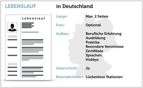 Lebenslauf Fur Deutschland Lebenslauf F 252 R Studienbewerbung Lebenslauf Beispiel