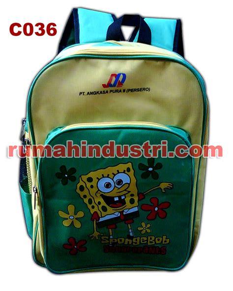 Tas Sekolah Model Selempang Karakter Sponge Bob tas sekolah almamater dan tas anak anak rumahindustri