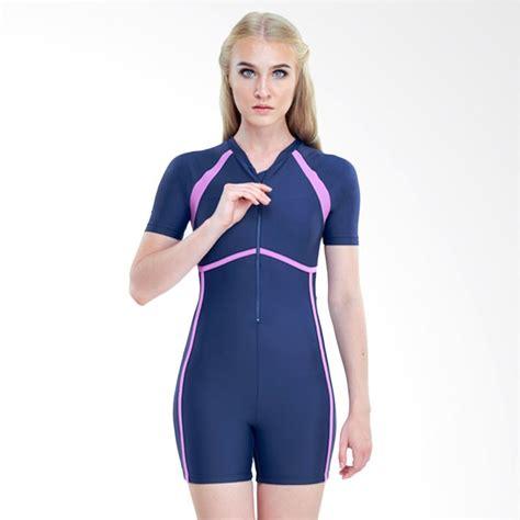 Baju Renang Diving Wanita jual vierra fdr diving baju renang wanita navy harga kualitas terjamin blibli
