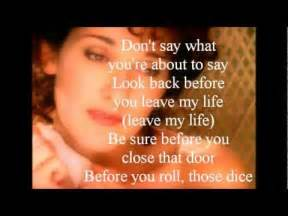 Celine dion think twice lyrics youtube
