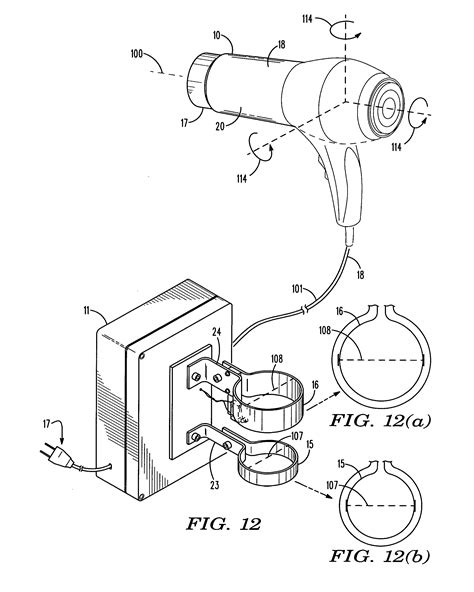 Hair Dryer Assembly Process patent us20120324755 combination hair dryer