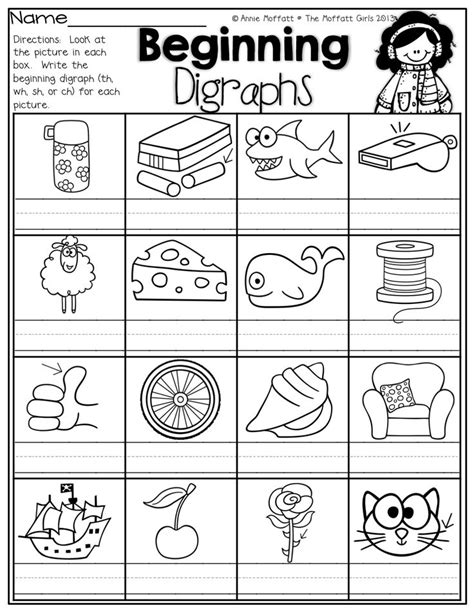 Digraph Worksheet by Beginning Digraphs Write The Beginning Digraphs For Each