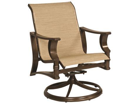 Patio Sling Chair by Woodard Arkadia Sling Aluminum Swivel Rocker Lounge Chair
