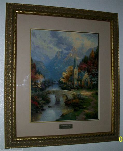 thomas kinkade home interiors rare home interior framed thomas kinkade mountain chapel