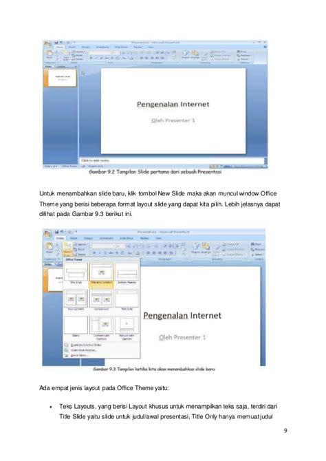 jenis layout pada office theme materi penggunaan microsoft power point dan microsoft excel