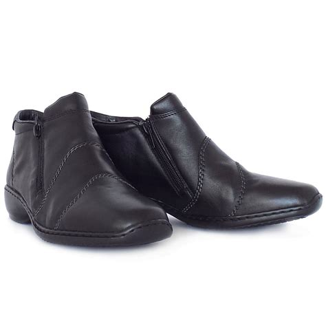 comfortable casual boots rieker river dance l3892 00 casual black leather boots