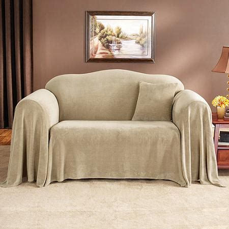 mainstays plush loveseat furniture throw walmart