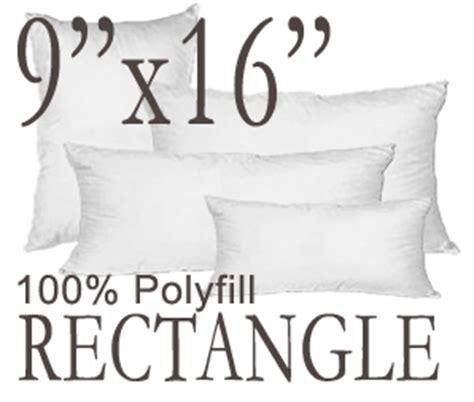 Throw Pillow Insert Sizes by Rectangular 9 Quot X16 Quot Polyfill Pillow Insert From Pillow D 233 Cor