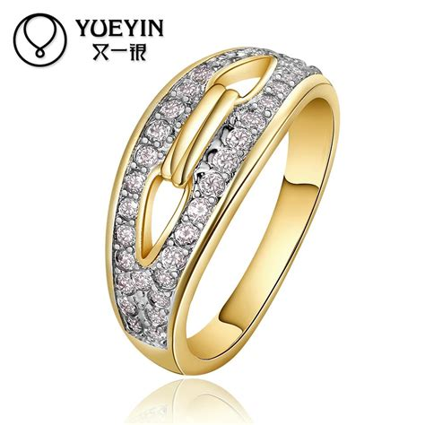 offer r676 a wholesale 18k real gold plated ring for