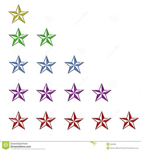 color rating color rating 1 through 5 royalty free stock images