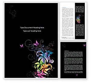 fancy templates for word fancy design flowers word template 08349 poweredtemplate