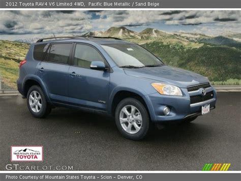 2012 toyota rav4 limited v6 pacific blue metallic 2012 toyota rav4 v6 limited 4wd
