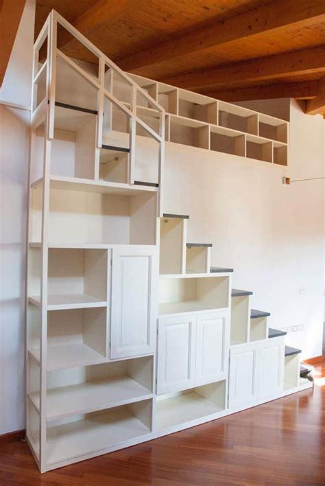 scala per libreria scala libreria su misura scala artigianale in legno