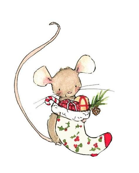 images of christmas mouse holiday decor merry mouse art print