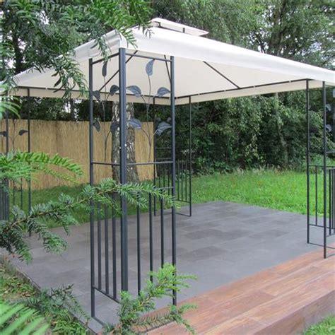pavillon 3x3m stabil metall pavillon 3x3 m creme partyzelt gartenpavillon