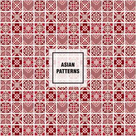 oriental pattern vector free download red asian pattern vector free download