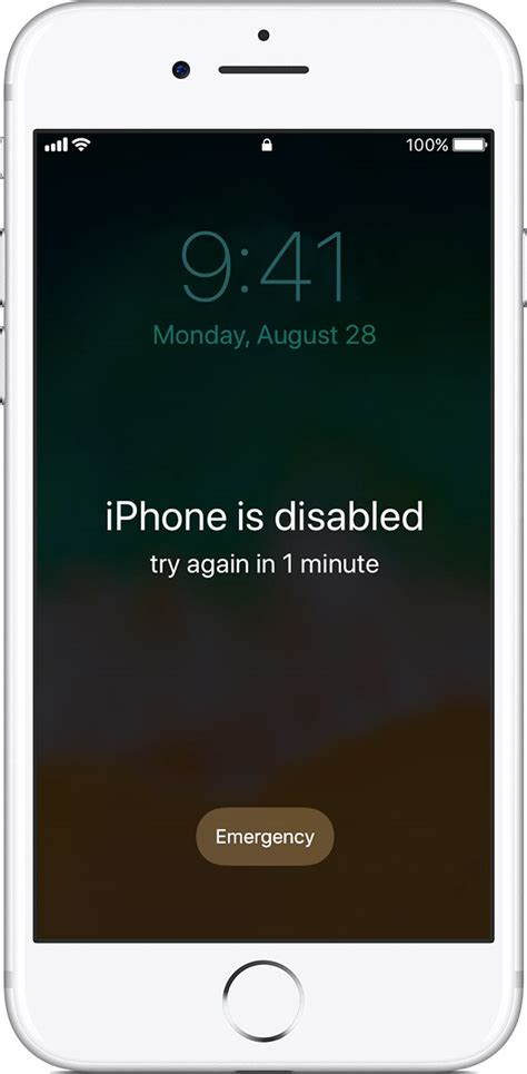 iphone is disabled if you forgot the passcode for your iphone or ipod touch or your device is disabled