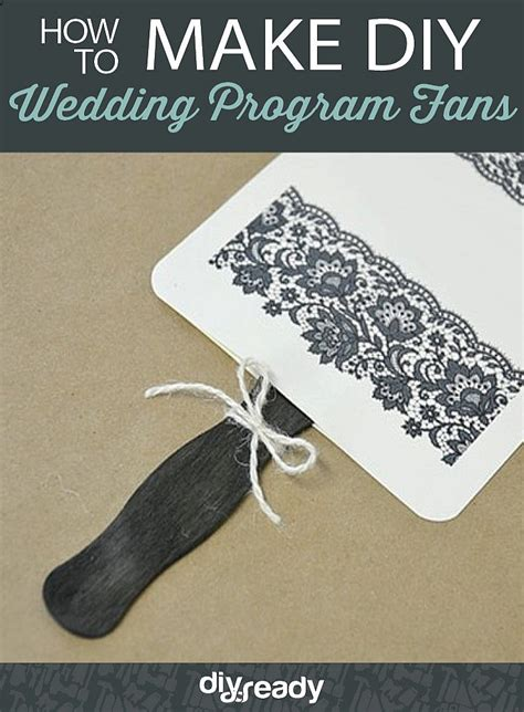 diy wedding program fans how to wedding program fans diy projects craft ideas