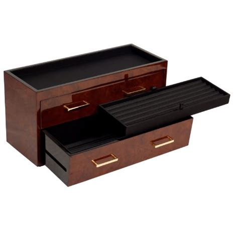 burlwood charging station traditional home electronics wolf 460310 meridian two drawer valet charging station