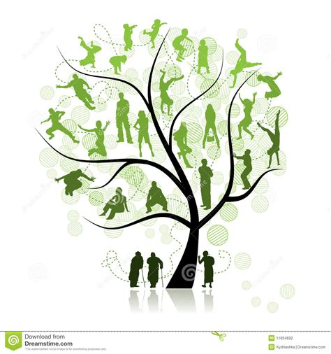 family tree relatives stock photography image 11834692