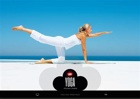 template powerpoint yoga yoga flash template 39544