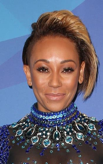 mel b hairstyles hairstyles mel b debuts sassy new shaved hairstyle