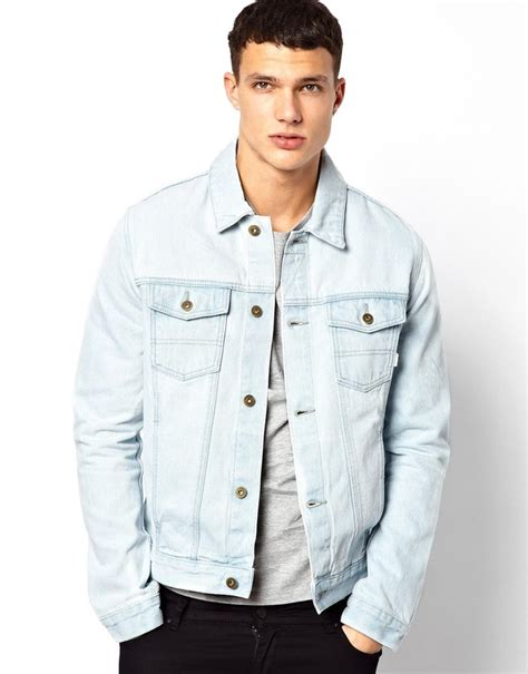 Mens Light Wash Denim Jacket asos denim jacket with acid wash where to buy how to wear