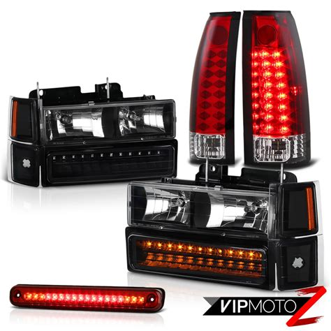 led tail lights for 97 chevy silverado 94 95 96 97 98 chevy c1500 c2500 silverado red led cargo