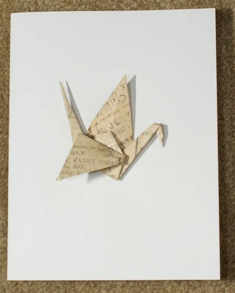 Origami Crane Card - origami by decorativefolds new origami crane cards by