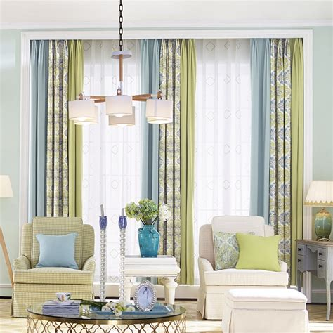 colorful patterned curtains colorful patterned print color block poly cotton blend