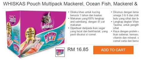 Sale Makanan Kucing Whiskas Kering 450gr beli makanan kucing ecommerce in malaysia