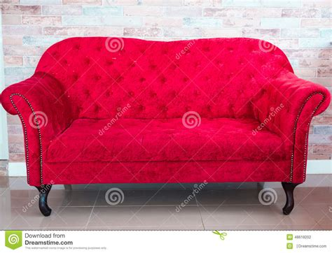 red couch photography red sofa stock photo image 48618202