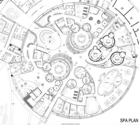 spa layout plan drawing 1000 images about circular architecture on pinterest